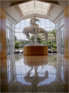 """James Earle Fraser's stirring monument, """"The End of the Trail,"""" greets visitors to the National Cowboy and Western Heritage Museum."""