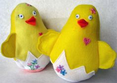 Felt Chick (Sewing project for Hannah)