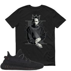 Kendrick Lamar Yeezy Boost 350 Black T Shirt Adult Youth Yeezy Boost 350 Black, Kendrick Lamar, Youth, Trending Outfits, Mens Tops, T Shirt, Fashion, Supreme T Shirt, Moda