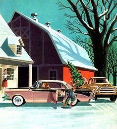 Dodge Christmas card - artwork by Harry Borgman