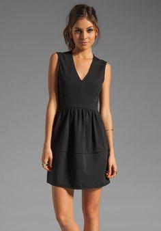TIBI  Ponte V-Neck Dress
