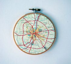 Embroidered Map of Rome by yinsteadofi on Etsy, $25.00