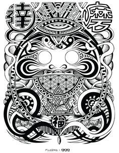 Daruma Doll Tattoo, Zentangle Drawings, Zentangles, Mangas Tattoo, Koi Fish Designs, Photography Editing Apps, Dark Art Tattoo, Dibujos Tattoo, God Tattoos