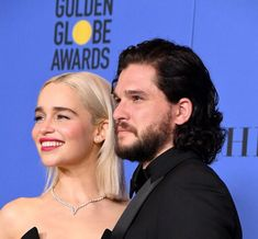 Dany And Jon, Jon Snow And Daenerys, Kit And Emilia, A Dream Of Spring, Game Of Trones, Tv Couples, Kit Harington, Emilia Clarke, Golden Globes