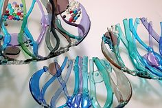 Ruth Shelley, contemporary glass artist, is a member of the Society of Designer Craftsmen.