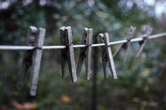 clothesline + clothespins