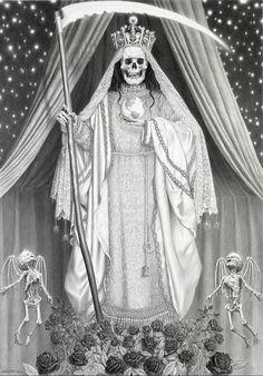 Santa Muerte. by Laurie Lipton                                                                                                                                                                                 More