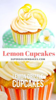 Lemon Drizzle Cupcakes are super easy to make and packed with zingy lemon flavour! Top with cream cheese frosting or enjoy plain… either way they are irresistible. Baking Cupcakes, Cupcake Cakes, Cupcake Frosting, Cupcake Ideas, Cupcake Recipes, Lemon Drizzle Cupcakes, Have A Snickers, Cupcake Calories, Lemon Muffins