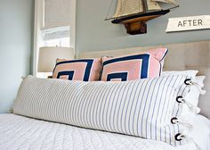 decorative pillow with grommets and rope / urban grace