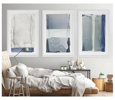 Set of 3 giclee prints of original watercolor paintings. Prints are professionally printed using an Epson on fine art paper with a matte finish. Paper size: 24 x 36 inch Frame not included. nr 408 409 411 The image is not to scale. Based on your monitor, colors of the prints may
