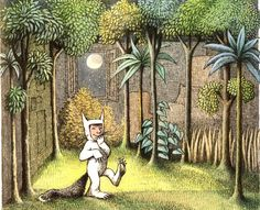 Maurice Sendak illustration from Where The Wild Things Are