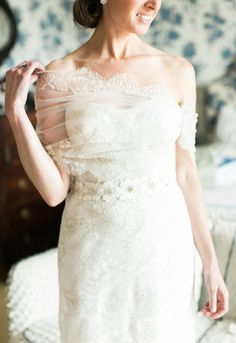 Bride in Lace Wrap   photography by http://www.rebeccaarthurs.com