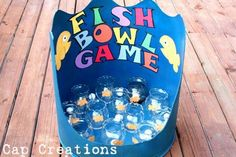 Cap Creations: DIY Fish Bowl Carnival Game......we could give goldfish crackers as prizes