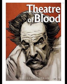"""mygrimmbrother: """"Another red, white & black movie poster. Got plenty more in the works #theatreofblood #vincentprice #horror #classichorror #horrorart #movie #film #cinema #cinephile #movieart..."""
