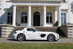 """SGA Aerodynamics is currently offering a full body kit for the impressive Mercedes-Benz SLS AMG to give it the sensational """"Black Series"""" look..."""