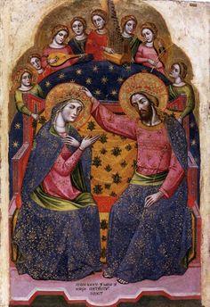 Catarino.  Coronation of Mary. 1375
