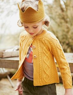 Wild Thing Crown in baby alpaca by Oeuf #oeuf #oeufnyc #crown #alpaca #ochre #knitting