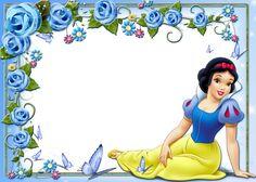 Cute Kids Princess Snow White Transparent Frame