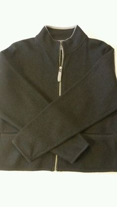 Woolrich Full Zippered  black Women's Sweater 100% wool size small  #Woolrich #FullZip