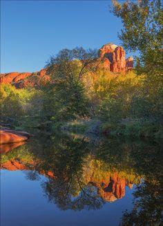 Red Creek Crossing Sedona Arizona by Ian C Rolfe