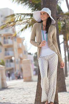 Wide Leg Pant - Print: Sun Protective Clothing - Coolibar