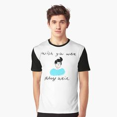 'Wish You Were Johnny Weir' Graphic T-Shirt by richwear Johnny Weir, Sell Your Art, Chiffon Tops, Wish, Shirt Designs, Printed, Awesome, People, Sleeves