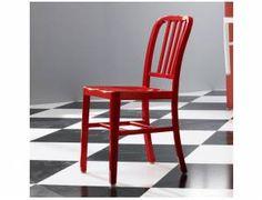 US NAVY sedia in alluminio - sedia in alluminio anodizzato (molto leggera), adatta ad uso esterno ed interno.  Dimensioni cm H84 x L39 x P54  ORDINE MINIMO 2 SEDIE  Colori: Rosso, Bianco, Alluminio.   Prodotto da azienda Italiana  realizzato all'estero. Metal Chairs, Furniture, Home Decor, Metal Cafe Chairs, Homemade Home Decor, Metal Dining Chairs, Home Furnishings, Decoration Home, Metal Stool