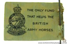 RSPCA. WW1 Fundraising Flag Day