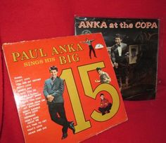Two Paul Anka Vintage Vinyl LPs- 1960 : Free Shipping by trackerjax on Etsy Music Aesthetic, Adam And Eve, Used Vinyl, Elmo, Free Shipping, Vintage, Adam An Eve, Vintage Comics