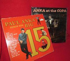 Two Paul Anka Vintage Vinyl LPs 1960