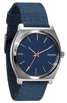 nixon the time teller canvas watch in navy