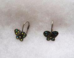 $2.03 - Butterfly Rhinestone Earrings (121216-100 ER) fashion, jewelry #Butterfly #DropDangle