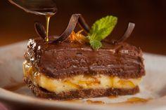 receita, doce, sobremesa, torta mousse, chocolate meio amargo, laranja, génoise