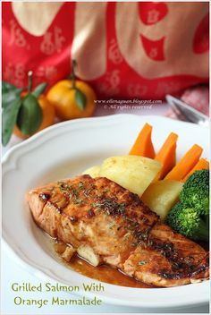 Cuisine Paradise | Singapore Food Blog - Recipes - Food Reviews - Travel: Grilled Salmon With Orange Marmalade