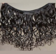 """Its real #human hair curly 16"""" non remy machine weft hair extension to give you a great look."""