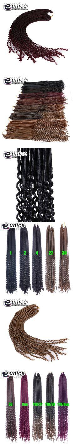 "Synthetic Hair For Braiding 24""inch 24strands Goddess Faux Locs Crochet Hair Curly Ends Dreadlocks Hair Extensions Wavy Hair"