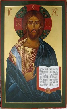 The Vladimir Christ Pantocrator, completed and olifa-ed. I hope to get another photograph once he has been in the church for a time.