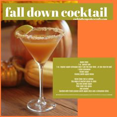 Looking for an alternative to Pumpkin Spice? Try our Fall Down Apple Cider Cocktail! #cheers #cocktails