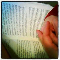 Photo: Hands and book via Instagram | My Word with Douglas E. Welch