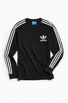Shop adidas Pique Long Sleeve Tee at Urban Outfitters today. We carry all the latest styles, colors and brands for you to choose from right here. Camisa Adidas, Adidas Shirt, Adidas Men, Adidas Jacket, Fashion Wear, Mens Fashion, Adidas Outfit, Look Cool, Sneakers Fashion
