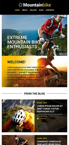 Mountain Bike Website Template Themes Business Responsive
