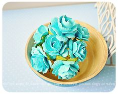 Millinery Heartshape Big flowers Buds paper flower /