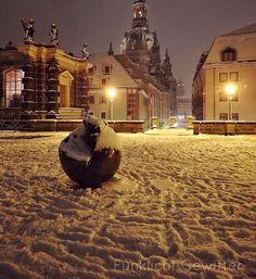 Dresden im Schnee