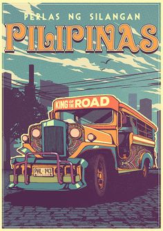 Design Deals - Tatak Pinoy Rides on Behance Philippine Mythology, Philippine Art, Filipino Art, Filipino Culture, Slogan Design, Graphic Design Posters, Baybayin, Jeepney, Philippines Culture