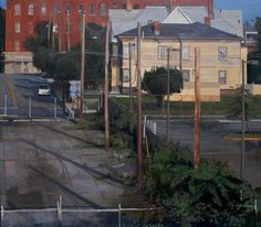 Andrew Haines Toward the Ramp - 2011 30 x 32 inches via Clark Gallery