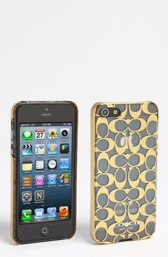 COACH 'Metal Signature' iPhone 5 Case available at #Nordstrom