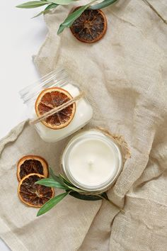 DIY | christmas scented candles