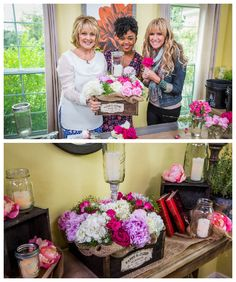 Get personal with your wedding plans & DIY your own Flower Centerpieces! Made by @Cristina Ferrare & @Paige Hemmis!