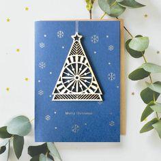 Wooden Tree - Merry Christmas - Alljoy