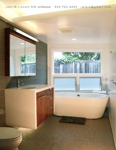 clean + simple mid-century modern bathroom